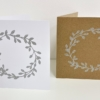 Wreath Gold & Silver Block Printed Cards