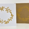 Wreath Gold & Silver Block Printed Christmas Cards