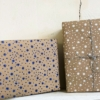 Block Printed Wrapping paper in Starry design