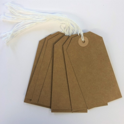 High Quality Brown Gift Tags x 10