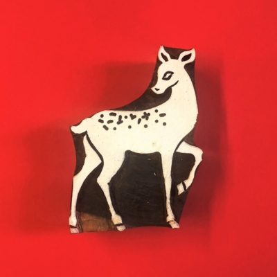 Indian Wooden Printing Block Bambi