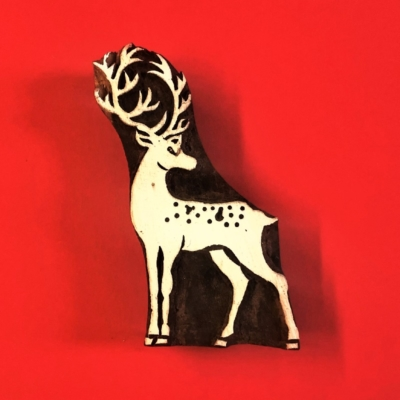 Indian Wooden Printing Block- Large Stag