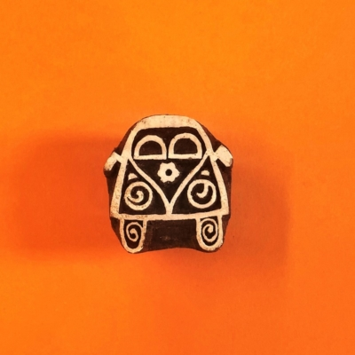Indian Wooden Printing Block- Small Hippy Campervan