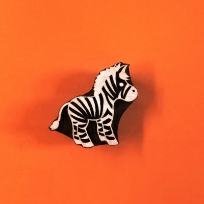 Indian Wooden Printing Block- Small Zebra