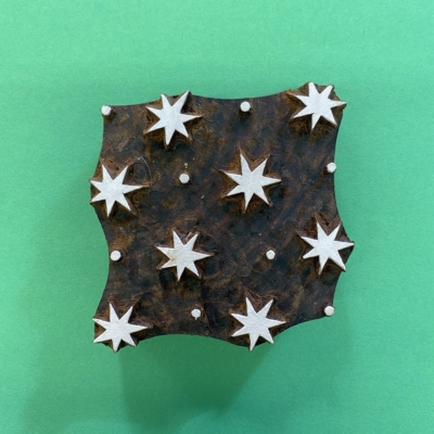 Indian Wooden Printing Block- Star and Dot Design