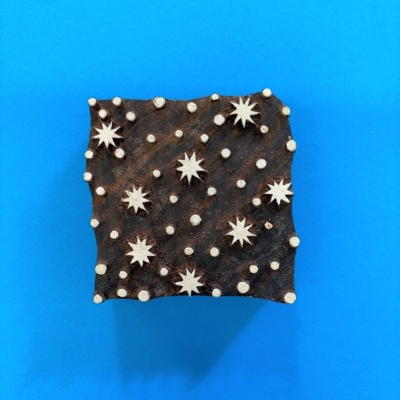 Indian Wooden Printing Block- Starry Tile Design