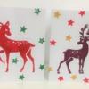 Hand Printed Stag & Bambi Christmas Card