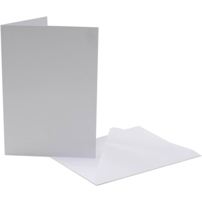 Pack of 5 White Cards with Envelopes