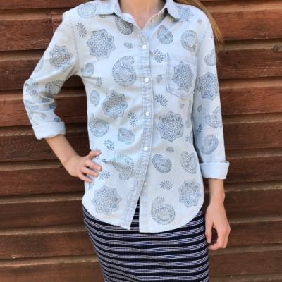 Hand Block Printed Cotton Shirt