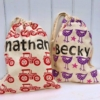 Drawstring Bags printed with Bold Uppercase & Lowercase Alphabet