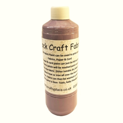 500ml Dusky Pink Fabric Paint
