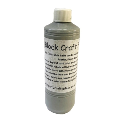 500ml Grey Fabric Paint