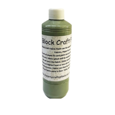 500ml Khaki Green Fabric Paint