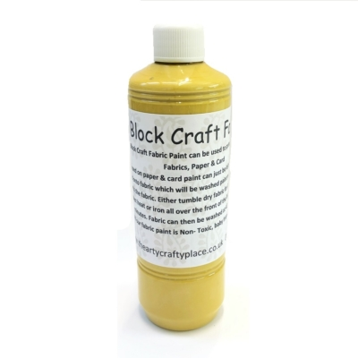 500ml Fabric Paint- Indian Yellow