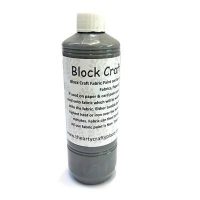 500ml Fabric Paint- Slate
