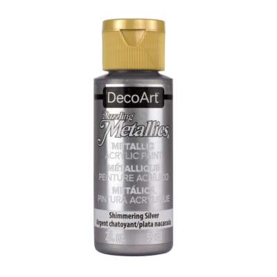 Acrylic Metallic Paint- Shimmering Silver