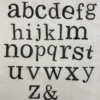 Alphabet Set- Fancy Lowercase Letters