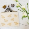 Beautiful Bee Block Printed Pouch