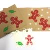 Block Printed Gingerbread Man