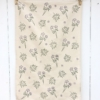 Botanical Floral Block Printed Tea Towel