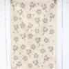 Botanical Floral Block Printed Tea Towel