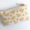 Small Zip Pouch- Gold Bee Pencil Case