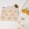 Indian Block Printing Kit- Bee Zip Pouch