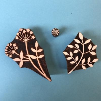 Indian Block Printing Set- Botanical Floral