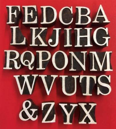 Fancy Capital Alphabet Set- Indian Printing Blocks