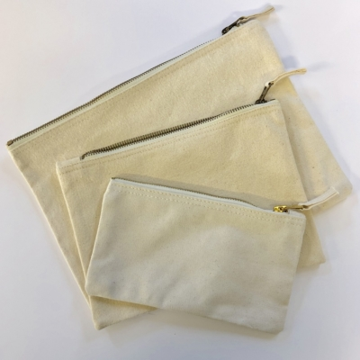 Set of 3 Flat Zip Pouches