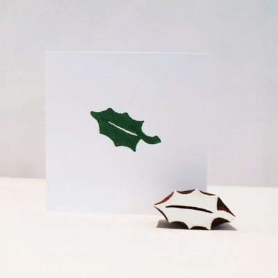Indian Wooden Printing Block - Holly Leaf