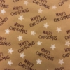 Indian Wooden Printing Block- Happy Christmas Paper Sample