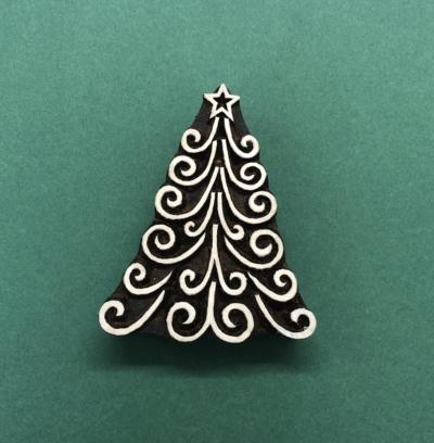Swirly Christmas Tree Block