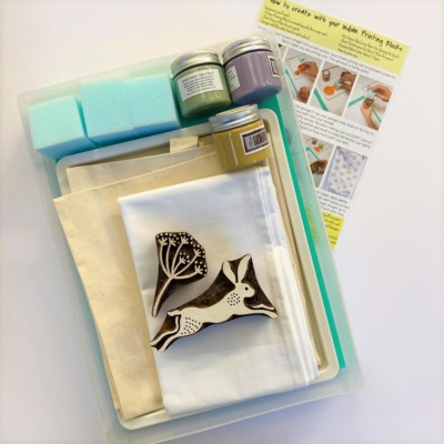 Complete Block Printing Kit- Hare & Country Seed Head