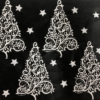Block Printed Elegant Christmas Tree Tissue Paper