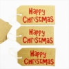 Indian Wooden Printing Block - Happy Christmas Red Gift Tags