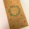 Block Printed Christmas Gift Bag