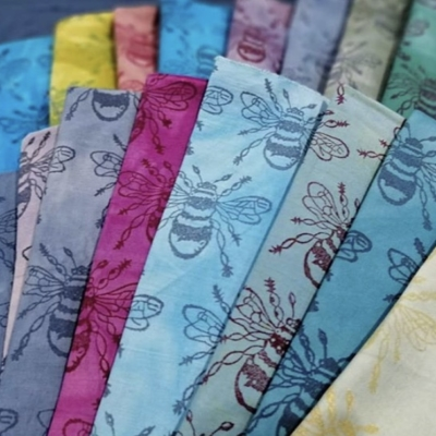 Block Printed Coloured Fabrics
