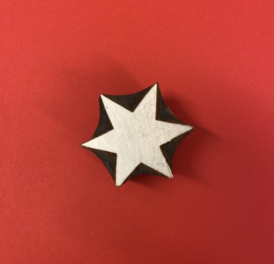 Indian Wooden Printing Block- 6 Point Stars