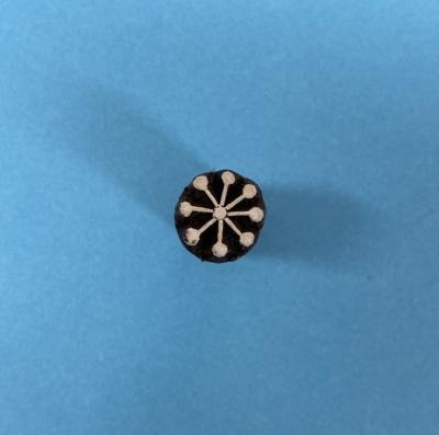 Indian Wooden Printing Block- Mini Mini Snowflake