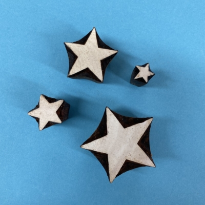 Indian Wooden Printing Block- Stars