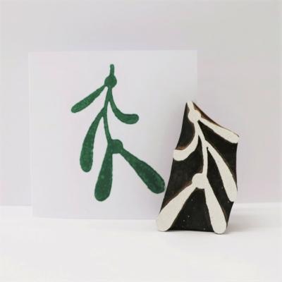 Indian Wooden Printing Block - Mistletoe