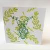 Block Printed Card- Beautiful Beetle