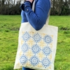Moroccan Tile Block Printed Tote Bag
