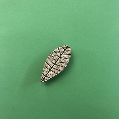 Indian Wooden Printing Block - Contemporary Spotty Leaf