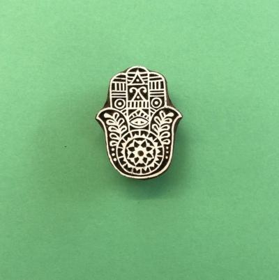 Indian Wooden Printing Block - Small Hamsa