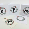 Block Printed Christmas Wreath & Berry Card