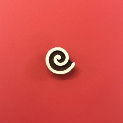 Indian Wooden Printing Block - Spiral