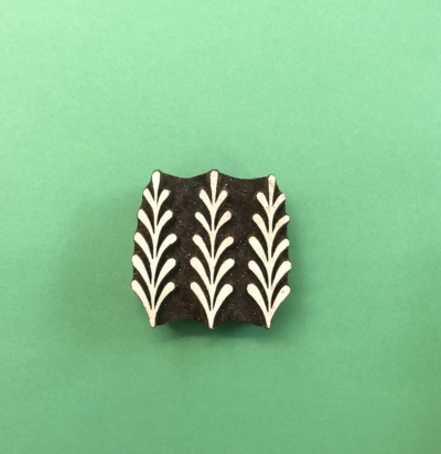 Indian Wooden Printing Block - Triple Sprig Pattern