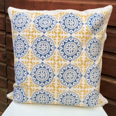 Cushion Cover Block Printing Kit- Two Colour Moroccan Tile